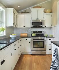 Kitchen:Fascinating L Shaped Kitchen Design With White Glass Window And  Cram Flooring Ideas Outstanding