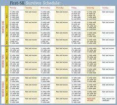 first 5k survivor schedule