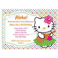 hello kitty birthday party printables printable hello kitty luau birthday party invitation max otis