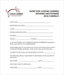 Example Of Catering Contract Reception Catering Contract Pdf Free Download In 2019