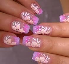 Delicate nail art,video tutorial sweet flower design - YouTube