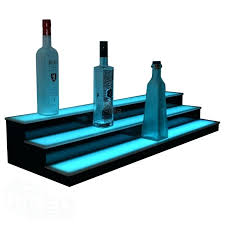 led liquor shelf 2 tier led liquor shelf elegant 3 tier low profile led display shelf