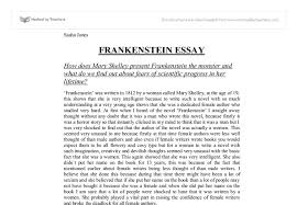 how does mary shelley present frankenstein the monster and what do  document image preview