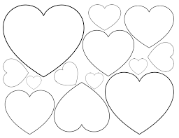 Small Picture Printable Heart Shapes Tiny Small Medium Outlines Heart