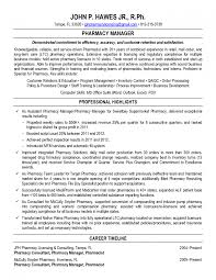 Clinicalstaff Pharmacist Resume 28 Cover Letter Examples Template