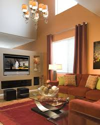 Wall Color Designs For Living Room Great Accent Walls In Living Room With Splash Color Design And