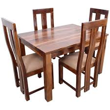 Induscraft Sheesam Wood Dining Table Set Brown