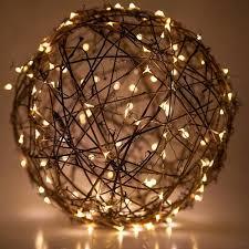 ball fairy lights. grapevine ball with fairy lights .