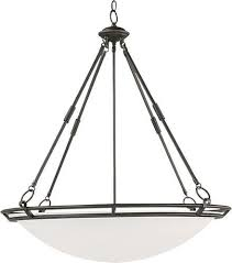 maxim lighting 32 stratus 6 light invert bowl pendant in bronze with marble