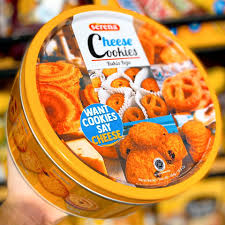 Bánh quy hộp thiếc Cheese Cookie - Indonesia - 454g - Omely - Candy & Snack  Shop