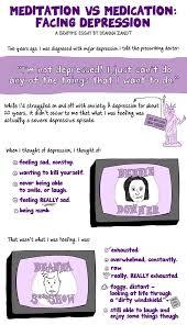 meditation vs  medication  a comic essay on facing depression   fusionzandt depression