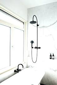 black shower rod s curved matte curtain tension