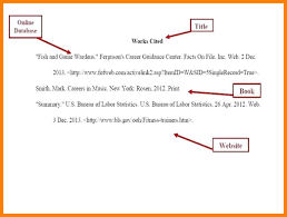 Mla Works Cited Page Template