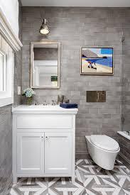 bathroom gray subway tile. Bathroom With Grey Subway Tile. Inspiring Bathroom. The Countertop Is White Quartz By PentalQuartz Gray Tile T