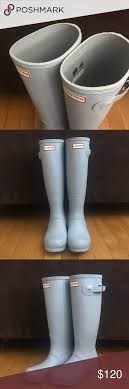 hunter boots size 6 hunter boots matte light blue matte tall hunter boots size 6 never