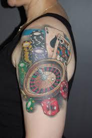 Tattoos Casino Designs Casino Gambling Tattoo On Left Arm Tattoos Book 65 000
