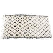 moroccan white and black beni ouarain rug for