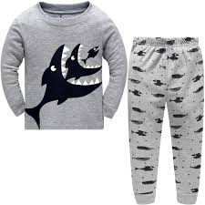 com hugbug toddler boys shark pajama set t clothing