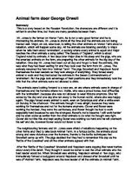 animal farm bookreport plot outline and its links to the russian  page 1 zoom in