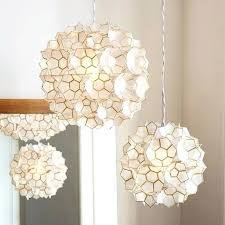 capiz light flower pendant small white clear diy capiz shell light fixture capiz light shell 2 light drum pendant
