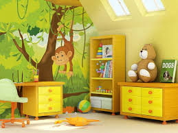 childrens bedroom wall ideas delectable photo wallpaper monkey amusing boys 9 home painting