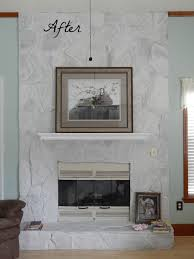 lava rock fireplace renovations before and after image collections