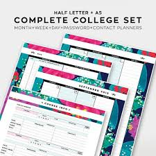 College Academic Planners Sale Complete College Student Planner 2015 2016 By Sessavee Life