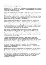 Calameo Basic Rules Of Resume Writing For Jobseekers