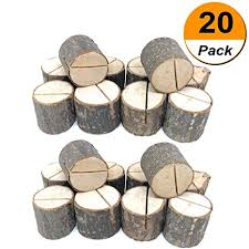 20pcs Wood Table Numbers Holder Wood Place Card ... - Amazon.com