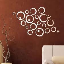 24pcs circle 3d mirror acrylic wall sticker removable art mural home decor z