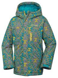 columbia alpine free fall youth jackets insulated deep marine print kids clothing columbia jacket