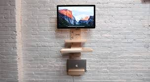 space saving desks space. This Is A Modular Standing Desk That Will Save Spaces Out Of Your Workspace. StandCrafted Consists Several Modules Are Arranged In Vertical. Space Saving Desks