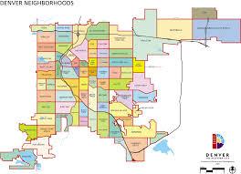 denver neighborhoods map  denver • mappery