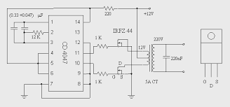 circuit zone com electronic projects electronic schematics diy simple dc to ac inverter