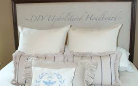 Alluring Upholstered Headboard Wood Trim Bedroom King And ...