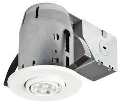 white ic rated dimmable round 3 recessed lighting kit