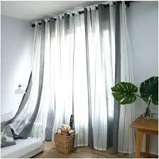 one panel curtain on a window one panel curtains gray vertical stripes minimalist living style bedroom one panel curtain