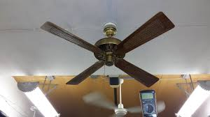 thomas british india ceiling fan with cane blades