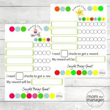 Reward Chart Reward Chart For Children