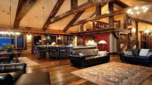 Open Log Home Floor Plans