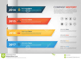 Company History In Time Line (Year) Horizontal Graph Bar (Vector ...