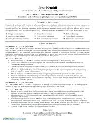 Sample Operations Management Resume Sample Hr Operations Manager