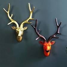 lion head wall decor pillowfort buck mount resin deer