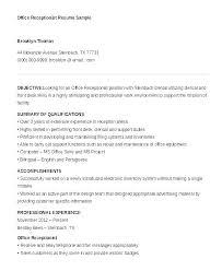 Receptionist Job Description On Resume Resume Gym Receptionist Job Impressive Receptionist Duties Resume