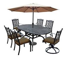 Shop Milan 9 Piece Set With Table Cushioned 4 Chairs 2 Swivel