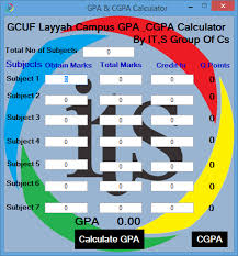 Gpa Chart GPA And CGPA Calculator For GCUF