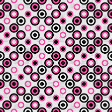 Polka Dot Pattern Custom Seamless Background With Pink And Black Circles Polka Dot Pattern