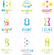 Eight Design Vector Clipart Of 3d Number Eight Design Logos By Cidepix
