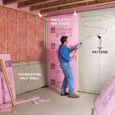 insulating basement walls and framing finishing basement
