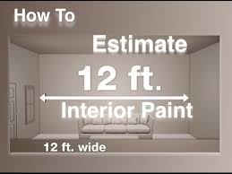 of paint needed for interior surfaces